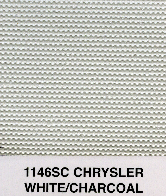 CHRYSLER WHITE/CHARCOAL SAILCLOTH TOPPING MATERIAL