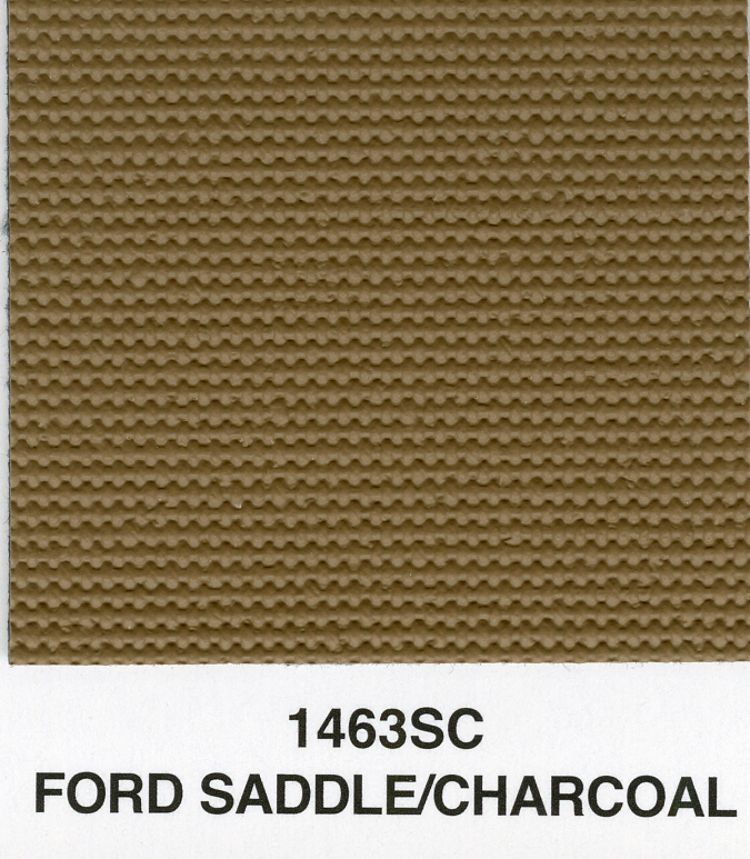 FORD SADDLE/CHARCOAL SAILCLOTH TOPPING MATERIAL